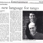 A new language for tango (Bs As Herald)