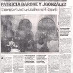 Comienza el canto arrabalero en el Bañuelo (Granada 2005)
