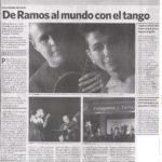 De Ramos al mundo con el Tango (Clarín)