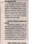 Dialogos del tango de hoy (La Capital- Rosario)