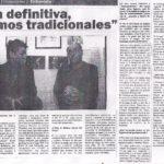 En definitiva, somos tradicionales (Compromiso- Haedo 2007)