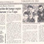 La renovación del Tango según PB y La Yapa (El Cronista- 1996)