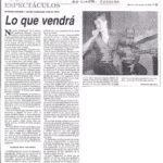 Lo que vendrá (Puntal - Río Cuarto-2005)