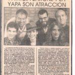 PB y La Yapa son atracción (Ultimas noticias- Monteviedo 1995)