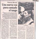 Una nueva voz para cantarle al tango (La Razón 1993)