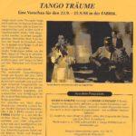 Programa Festival Tango Träume- Hamburgo 1997