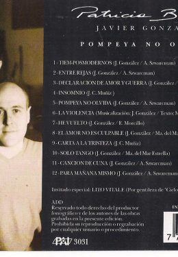 Pompeya no olvida (Contratapa)
